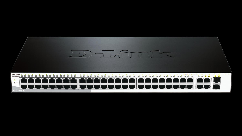 D-Link 48-Port 10/100/1000Mbps Smart Switch, DGS-1210-52