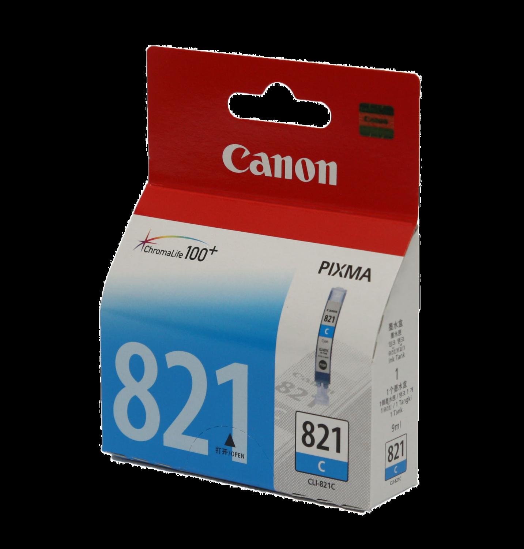 Canon 821 Ink Cartridge, Cyan