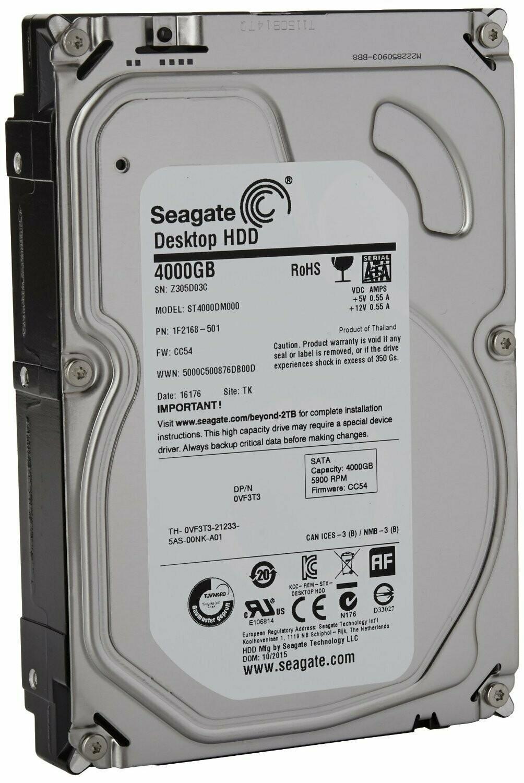 Seagate HDD 4TB Sata Desktop Internal Hard Drive