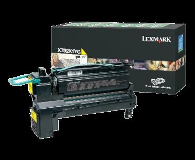 Lexmark X792X1YG High Yellow Toner Cartridge
