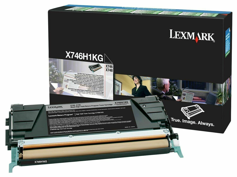 Lexmark X746H1KG Black High Yield Toner Cartridge