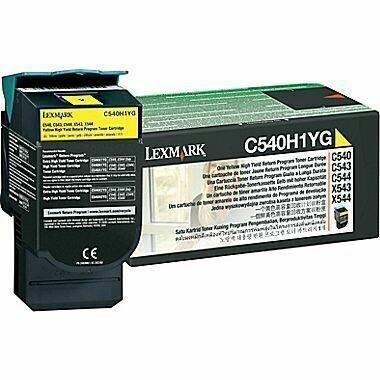 Lexmark C540H1YG High Yellow Toner Cartridge