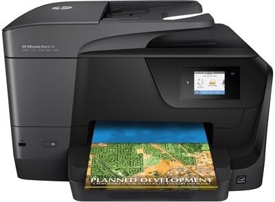 HP OfficeJet Pro 8710 All-in-One Printer, D9L18A, PSC, W, N, D, F