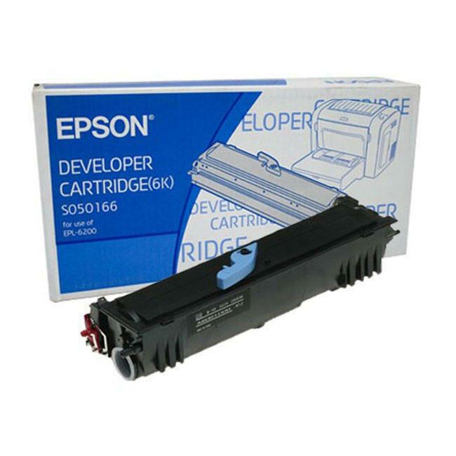 Epson 6200 Toner Cartridge, Black, S050166