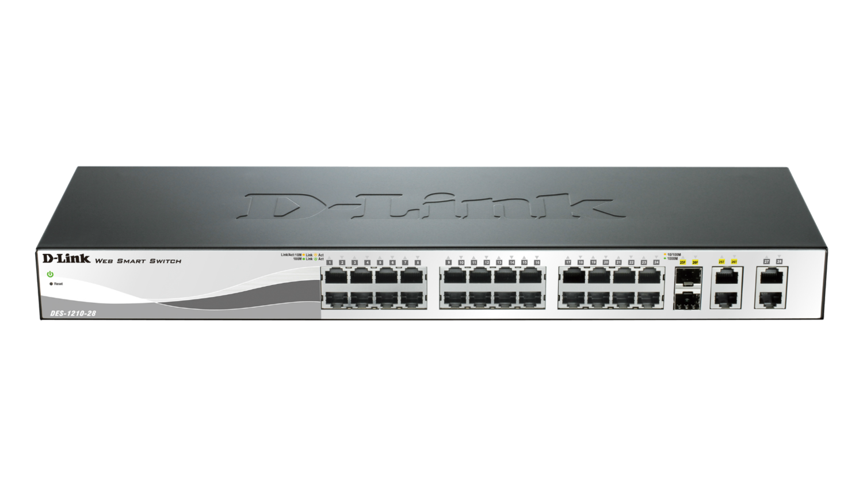 D-Link 24-Port 10/100Mbps Smart Switches, DES-1210-28