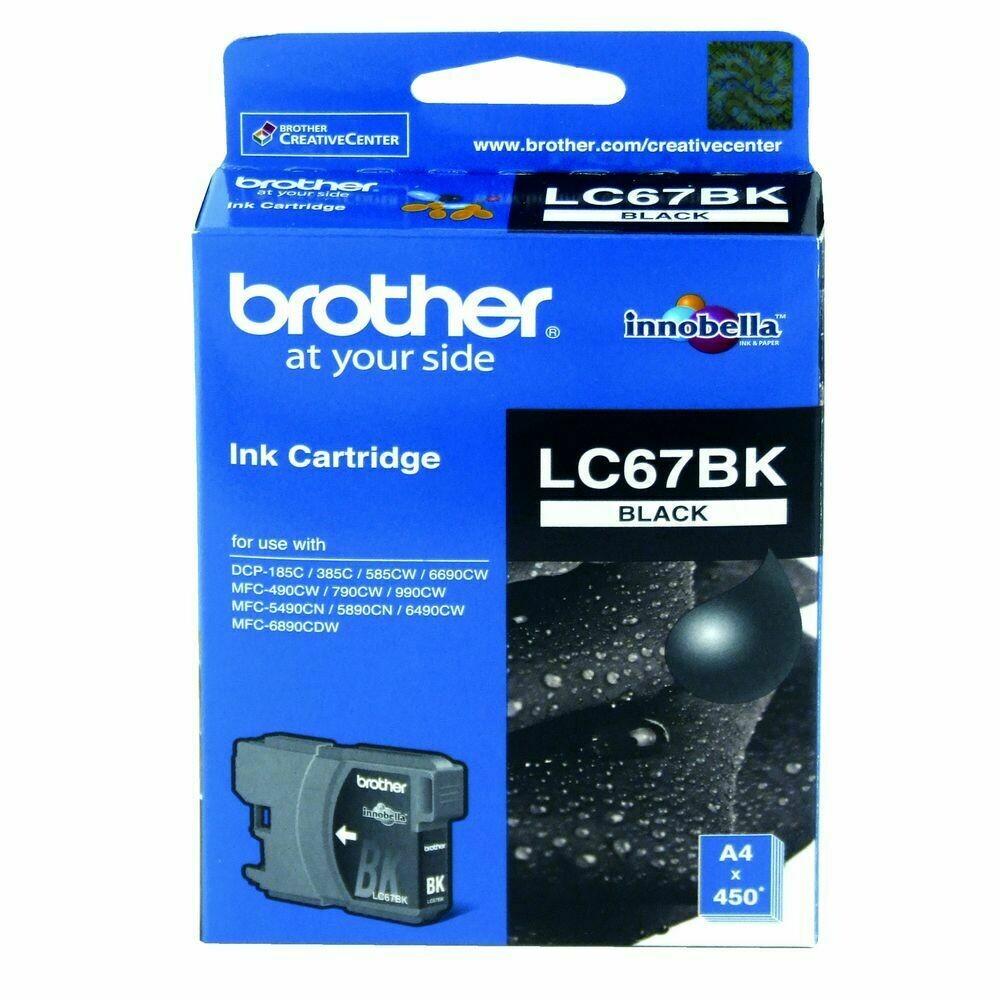 Brother LC67 Ink Cartridge, Cyan