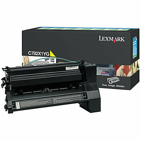 Lexmark C782X1YG High Yield Yellow Toner Cartridge