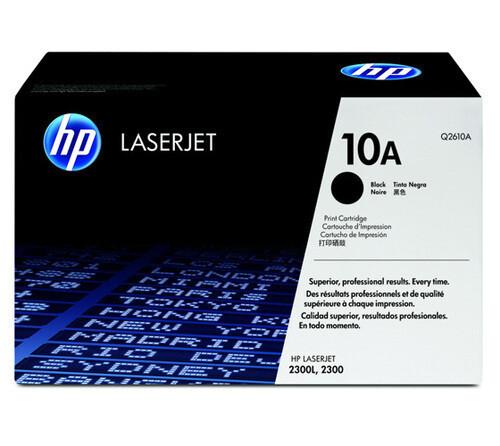 HP Q2610A 10A Toner Cartridge, Black