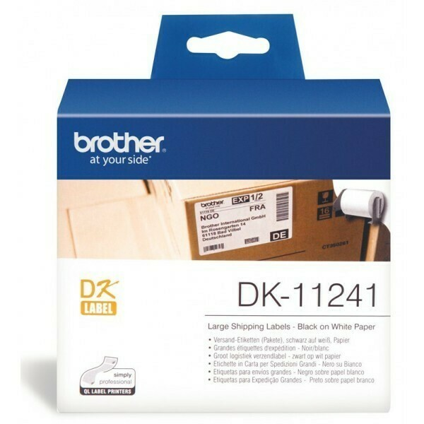 Brother DK11241 Bar Code Label, 102mm X 152mm X 200pcs