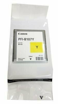 Canon PFI-8107Y Ink Cartridge, Yellow, 130ml