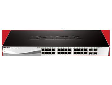 D-Link 24-Port 10/100/1000Mbps Web Smart Switches, DGS-1210-28