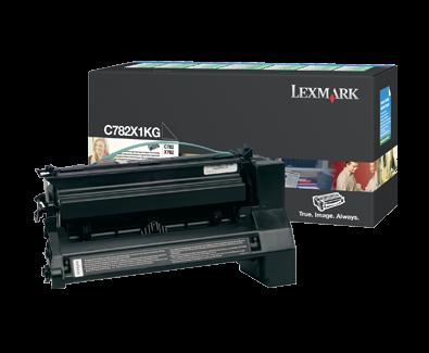 Lexmark C782X1KG High Yield Toner Cartridge, Black