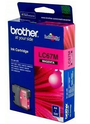Brother LC67 Ink Cartridge, Magenta