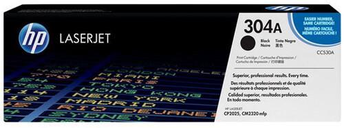 HP 304A Toner Cartridge, Black, CC530A