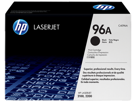 HP 96A High Yield Toner Cartridge, Black, C4096A