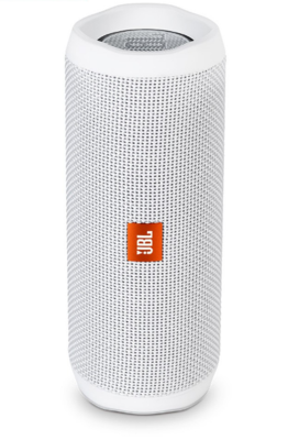 JBL Flip 4 Waterproof Portable Bluetooth Speakers, White