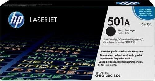 HP 501A Toner Cartridge, Black, Q6470A