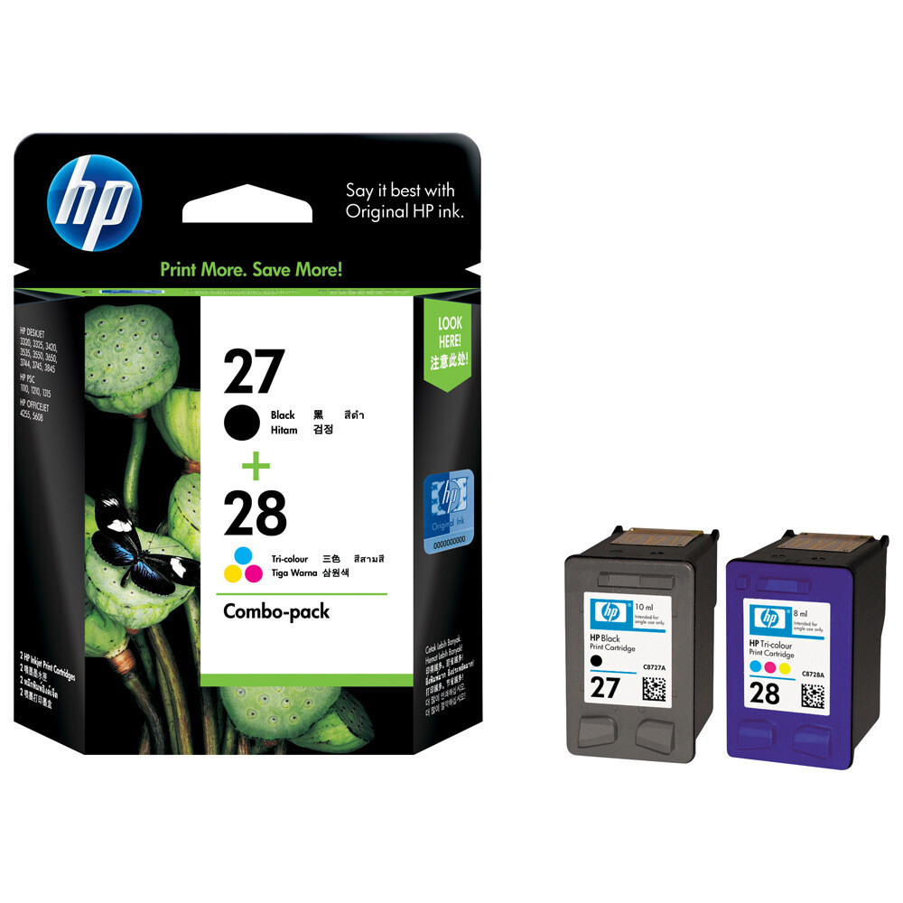 HP 27, 28 Combo Pack, Ink Cartridge