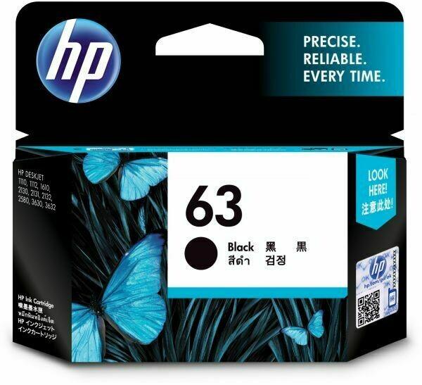 HP 63 Ink Cartridge, Black