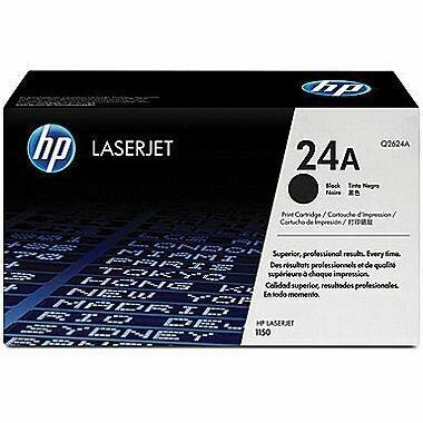 HP Q2624A 24A Toner Cartridge, Black
