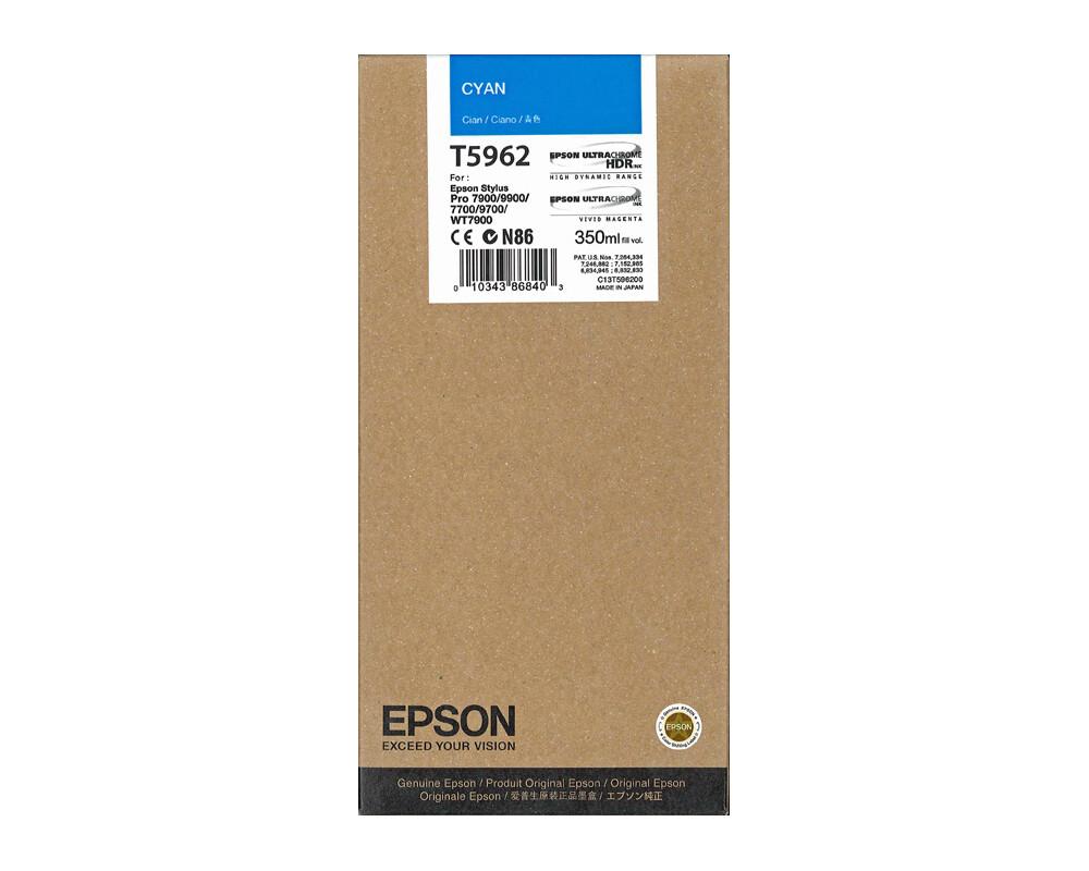 Epson T5962 Ink Cartridge, Cyan, 350ml