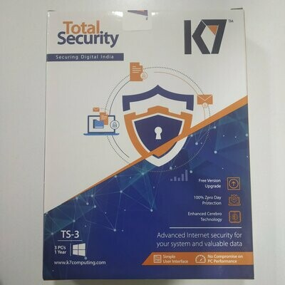3 User, 1 Year, K7 Total Security