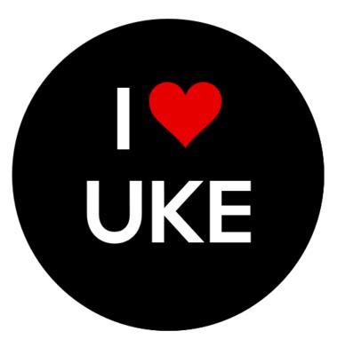 I Heart Uke Button