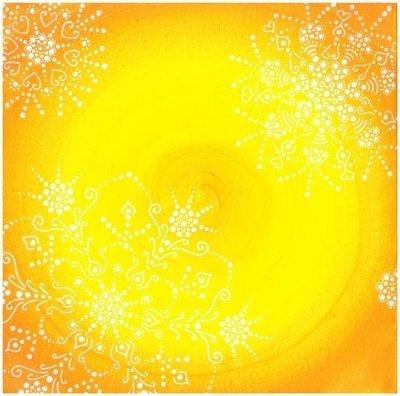 Fleur cosmique , Jaune Soleil