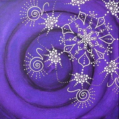Fleur cosmique , Violet Espace
