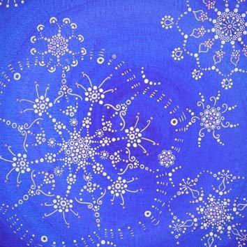 Fleur cosmique , Bleu Dentelle