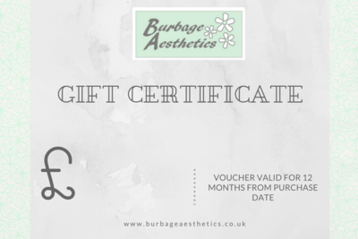 Gift Certificate for Burbage Aesthetics - Various Amounts