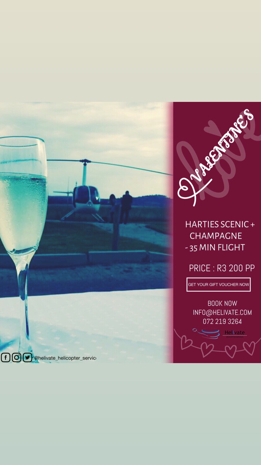 Valentine's Harties Scenic Flight + Champagne