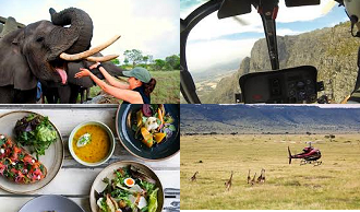 Heli Safari and Elephant Interaction & a Spot of Lunch