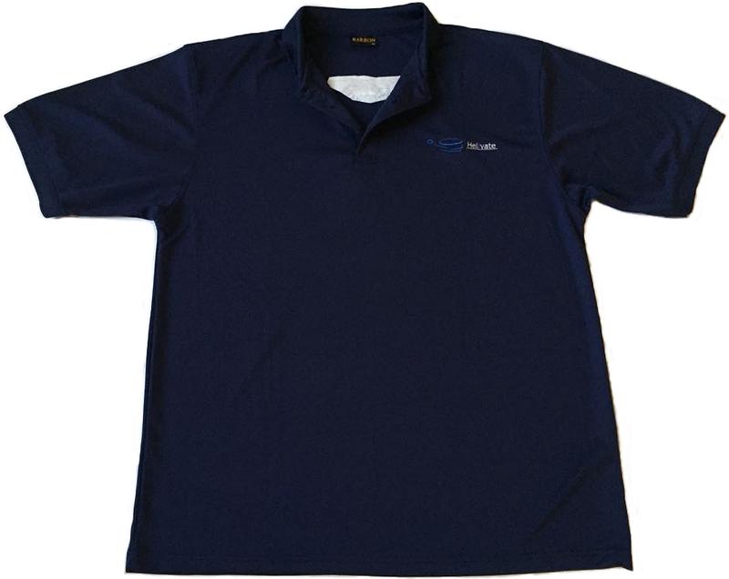 Helivate Mens Golf Shirt (Navy Blue)