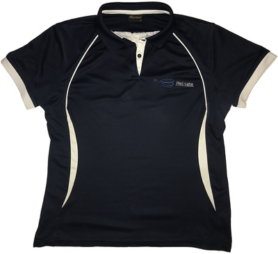 Helivate Womans Golf Shirt (Navy Blue)