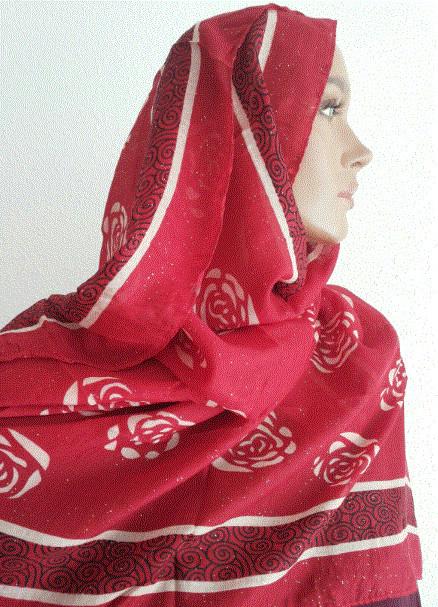 Schal mit Blumenmuster / Echarpes fleurs / Flower scarf  XL