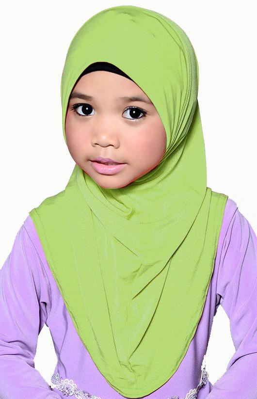 Girls Hijab Apple Green