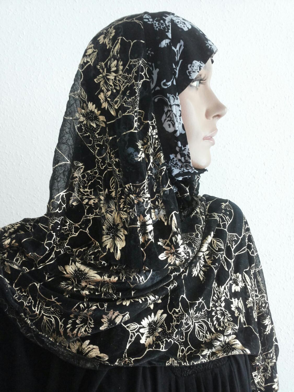 Kuwait Hijab, Black Gold White