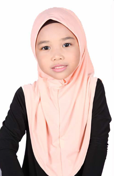 Girls Hijab Peach