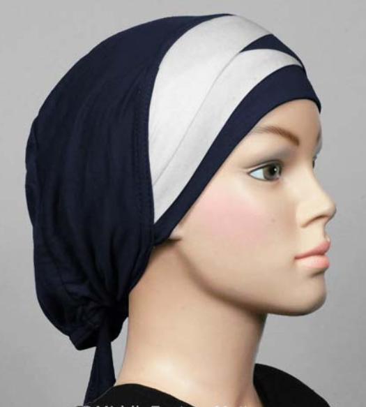 Bonnet bicolore navy