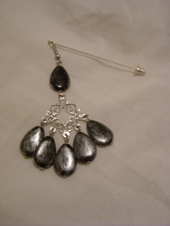 Hijab pin black charm