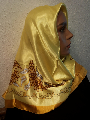 Satin Foulard carré Yellow / Gold