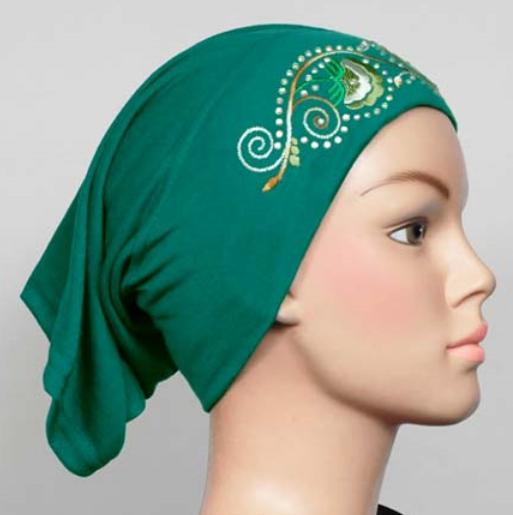 Cotton hijab cap Green