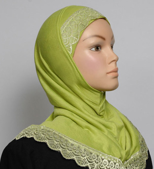 Girls Hijab Spring Green