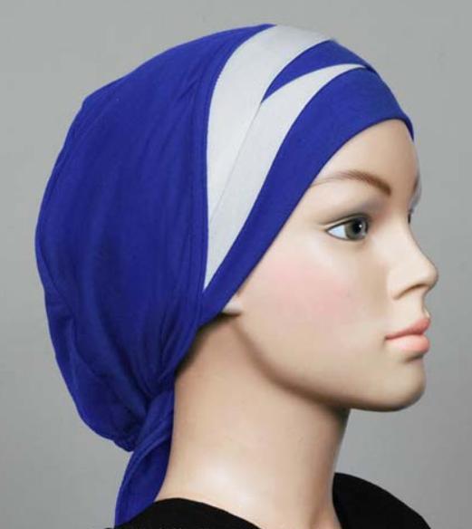 Bonnet Royal Blue / white