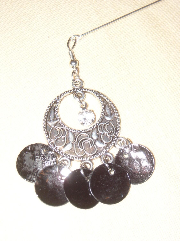 Hijab Pin Silver black