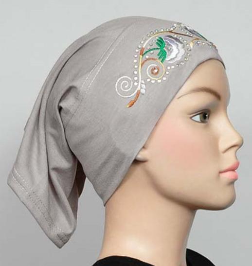 Bonnet brodé Grey