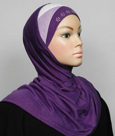 Amira Hijab Violet/Lila/White