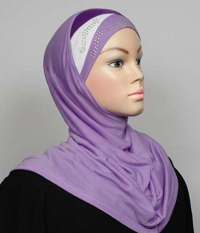 Amira Hijab Lila/White/Violet