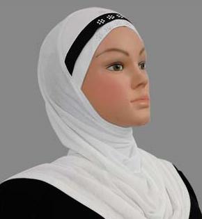 Amira Cotton White & Black